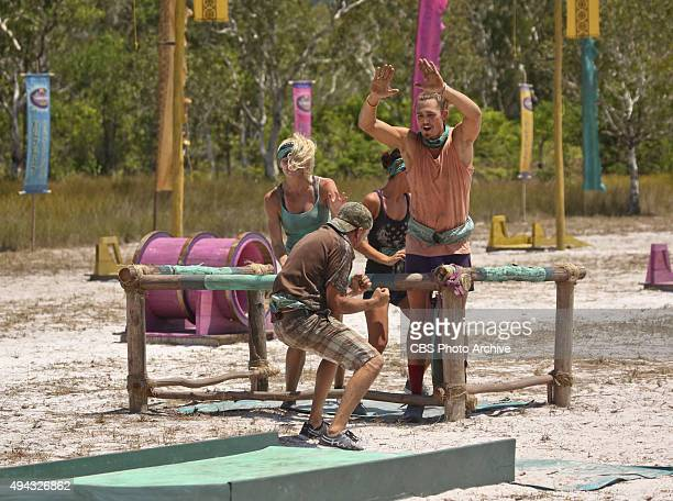 A Snake In The Grass Kelley Wentworth Keith Nale Ciera Eastin and Joe Anglim celebrate during the fifth episode of SURVIVOR Wednesday Oct 21 The new...