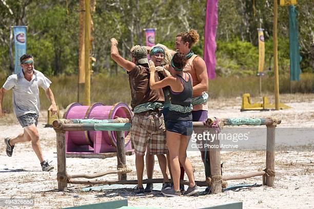 A Snake In The Grass Terry Deitz Keith Nale Kelley Wentworth Ciera Eastin and Joe Anglim celebrate during the fifth episode of SURVIVOR Wednesday Oct...