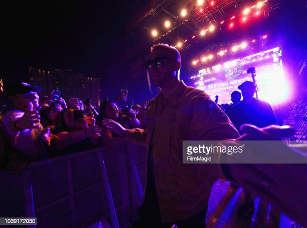 Snake performs at Downtown Stage during the 2018 Life Is Beautiful Festival on September 23 2018 in Las Vegas Nevada