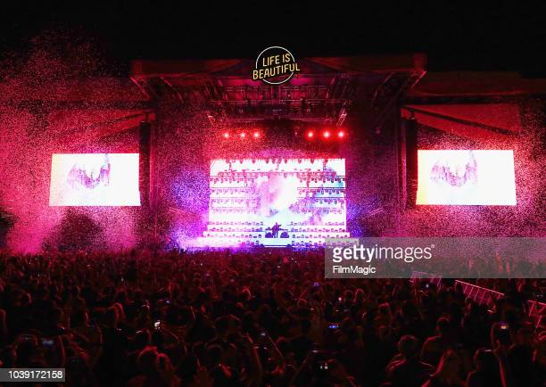 Snake performs on Downtown Stage during the 2018 Life Is Beautiful Festival on September 23 2018 in Las Vegas Nevada