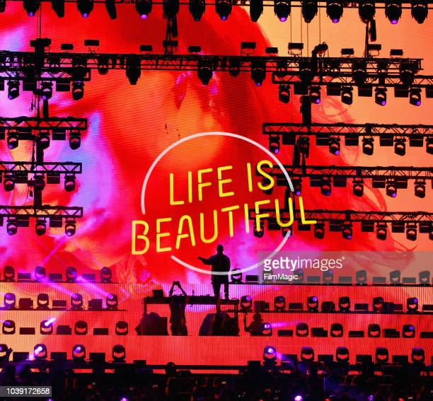 DJ Snake performs on Downtown Stage during the 2018 Life Is Beautiful Festival on September 23 2018 in Las Vegas Nevada