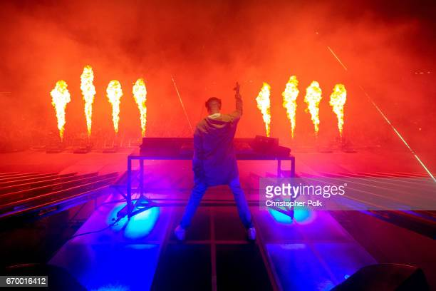 Snake performs on the Outoor Stage during day 2 of the Coachella Valley Music And Arts Festival at the Empire Polo Club on April 15 2017 in Indio...