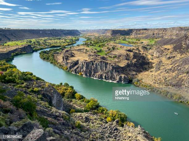 snake river and snake river canyon below twin falls, idaho - idaho stock pictures, royalty-free photos & images
