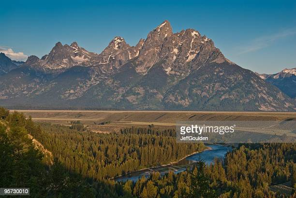 snake river and the teton range at first light - national landmark stock pictures, royalty-free photos & images