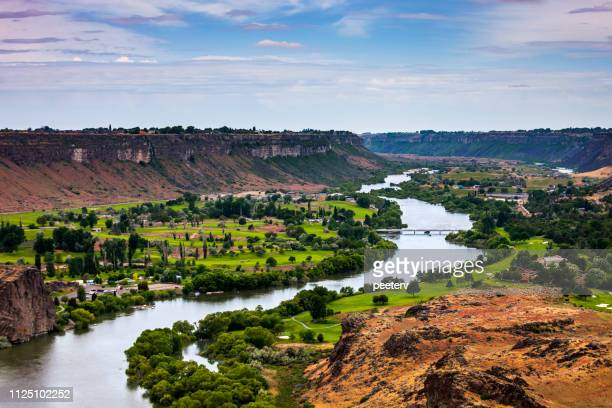 snake river canyon, twin falls, idaho - idaho stock pictures, royalty-free photos & images