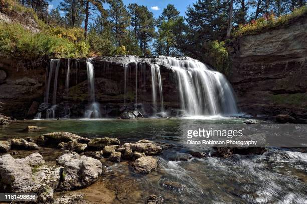 snake river falls near valentine, nebraska - nebraska stock pictures, royalty-free photos & images