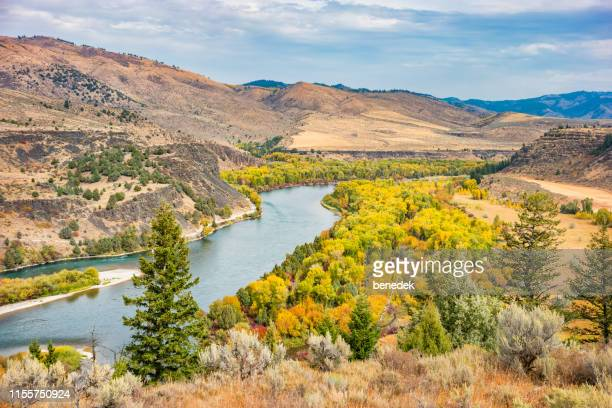 snake river near swan valley idaho usa - idaho stock pictures, royalty-free photos & images