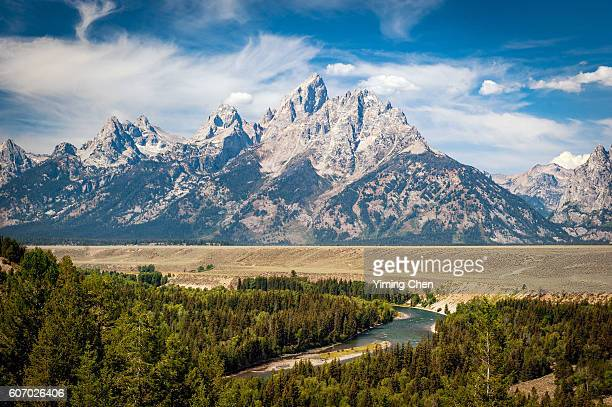 snake river overlook in grand teton national park - grand teton national park stock pictures, royalty-free photos & images