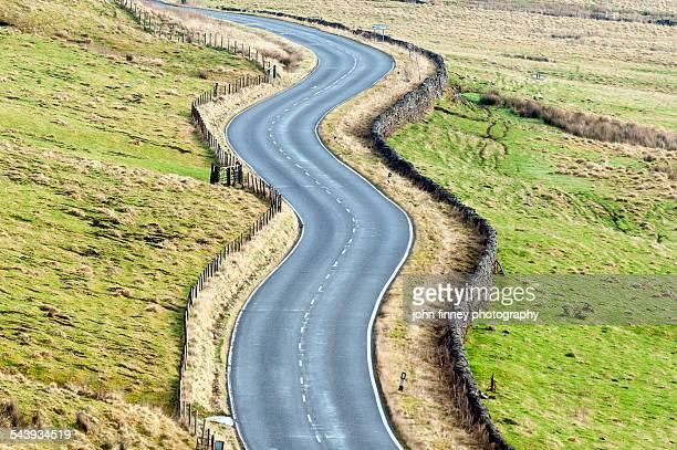 Snaky Twisty road in Derbyshire