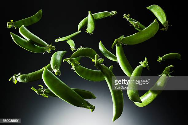 Snap pea in the air