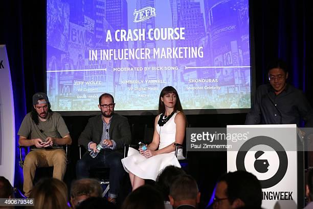 Snapchat Celebrity Shonduras Liquid Thread VP and Brand Content Director Jeff Wolfe Macy's VP of Digital Media Kimberly Yarnell and ZEFR EVP of Media...