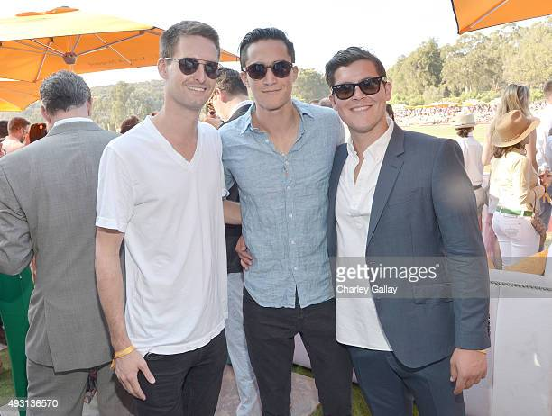 Snapchat founder Evan Spiegal attends the SixthAnnual Veuve Clicquot Polo Classic at Will Rogers State Historic Park on October 17 2015 in Pacific...