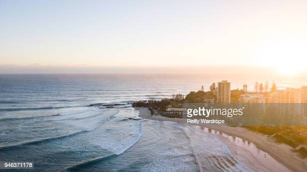 snapper sunrise - gold coast queensland stock pictures, royalty-free photos & images