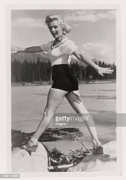 Snapshot: Marilyn Monroe wearing hot pants. USA. Photograph. 1949.