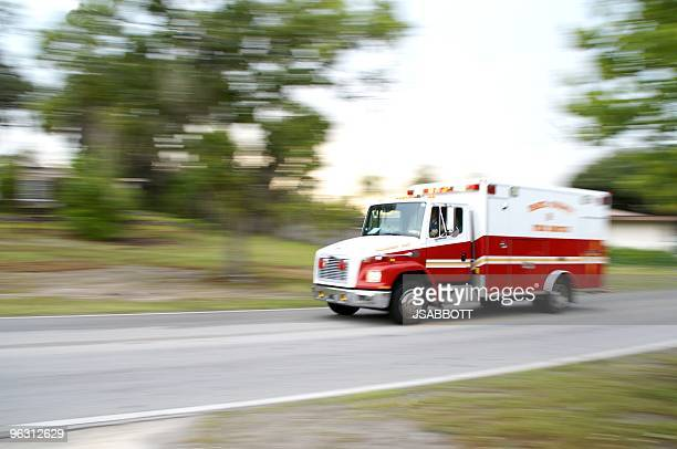 Snapshot of speeding ambulance on job