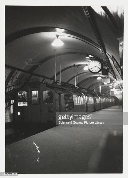 A snapshot photograph of a tube train bound for Queen's Park taken by an unknown photographer in about 1935 Originally a shooting term 'snapshot'...