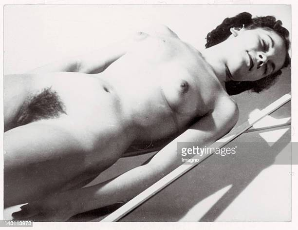 Snapshots Young woman poses nude for the photographer Germany Photograph 1930s