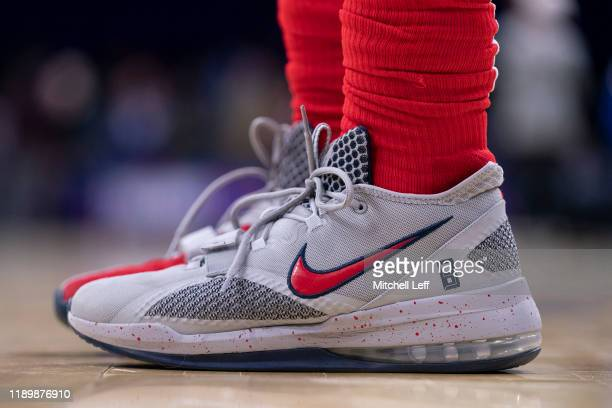 Sneaker detail of Bradley Beal of the Washington Wizards prior to the game against the Philadelphia 76ers at the Wells Fargo Center on December 21...