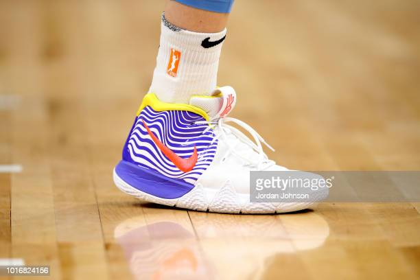Sneakers of Allie Quigley of the Chicago Sky on August 14 2018 at Target Center in Minneapolis Minnesota NOTE TO USER User expressly acknowledges and...