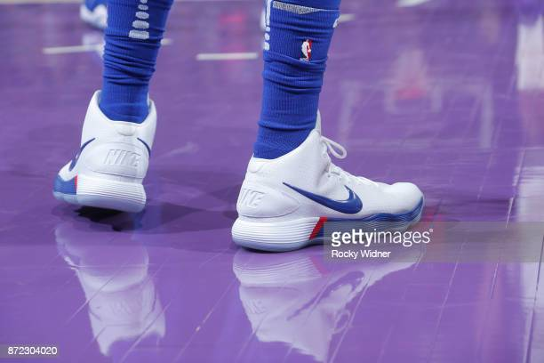 Sneakers of Ben Simmons of the Philadelphia 76ers on November 9 2017 at Golden 1 Center in Sacramento California NOTE TO USER User expressly...
