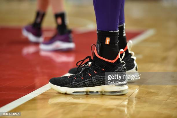 Sneakers of Brittney Griner of the Phoenix Mercury during game against the Las Vegas Aces on August 1 2018 at the Mandalay Bay Events Center in Las...
