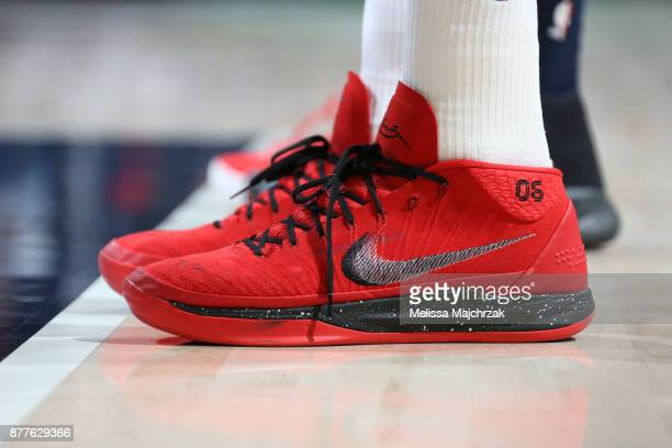 Sneakers of Cristiano Felicio of the Chicago Bulls during game against the Utah Jazz on November 22 2017 at Vivint Smart Home Arena in Salt Lake City...