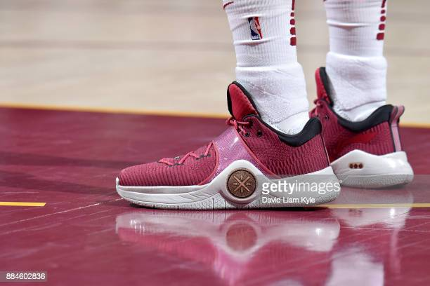 Sneakers of Dwayne Wade of the Cleveland Cavaliers during the game against the Memphis Grizzlies on December 2 2017 at Quicken Loans Arena in...
