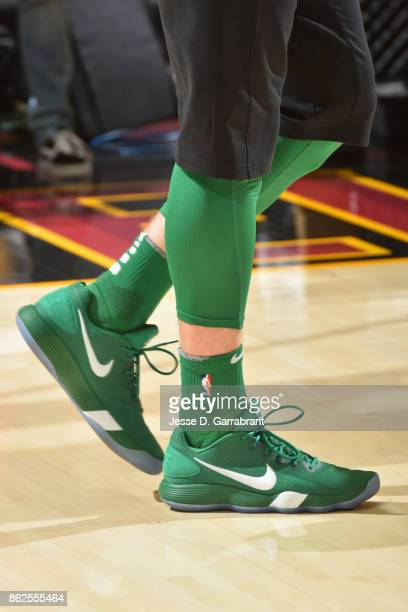 Sneakers of Gordon Hayward of the Boston Celtics during the game against the Cleveland Cavaliers on October 17 2017 at Quicken Loans Arena in...