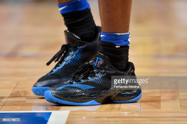 Sneakers of Jawun Evans of the LA Clippers during the game against the LA Clippers on December 13 2017 at Amway Center in Orlando Florida NOTE TO...