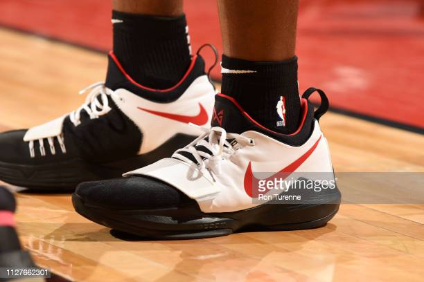Sneakers of Jodie Meeks of the Toronto Raptors on February 26 2019 at the Scotiabank Arena in Toronto Ontario Canada NOTE TO USER User expressly...