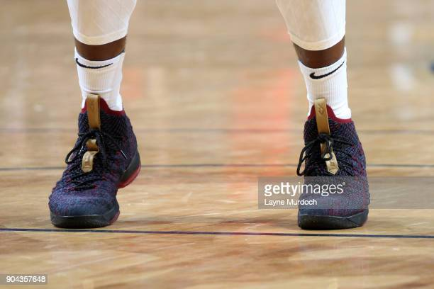 Sneakers of Jrue Holiday of the New Orleans Pelicans during the game against the Portland Trail Blazers on January 12 2018 at the Smoothie King...