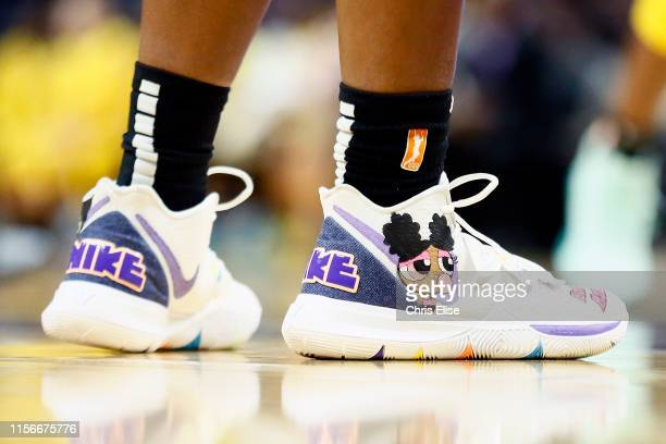Sneakers of Kalani Brown of the Los Angeles Sparks on July 18 2019 at the Staples Center in Los Angeles California NOTE TO USER User expressly...