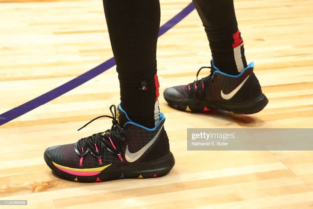 new style 5b6a6 dda93 Sneakers of Kyrie Irving of Team LeBron during the 2019 NBA ...