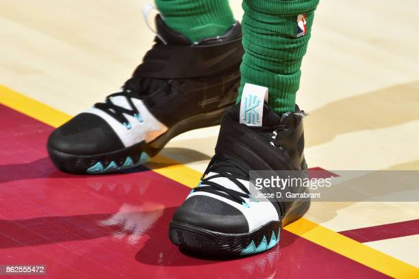 Sneakers of Kyrie Irving of the Boston Celtics during the game against the Cleveland Cavaliers on October 17 2017 at Quicken Loans Arena in Cleveland...