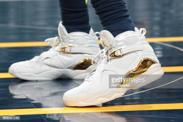Sneakers of Lance Stephenson of the Indiana Pacers before the game against the Cleveland Cavaliers on December 8 2017 at Bankers Life Fieldhouse in...