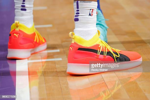 Sneakers of Marvin Bagley III of the Sacramento Kings during the game against the Golden State Warriors on July 3 2018 at Golden 1 Center in...