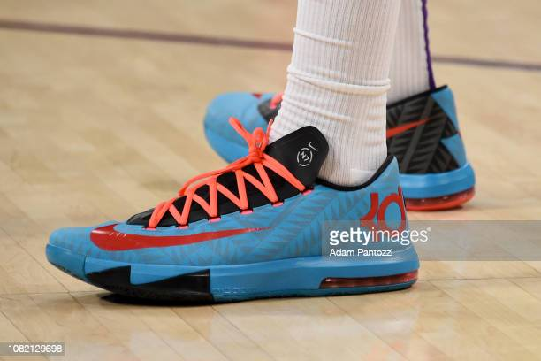 Sneakers of Michael Beasley of the Los Angeles Lakers seen prior to the game against the Cleveland Cavaliers on January 13 2019 at STAPLES Center in...