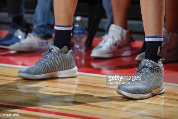 Sneakers of Nicolas Brussino of the Dallas Mavericks during the game against the Phoenix Suns during the 2017 Summer League on July 9 2017 at the...