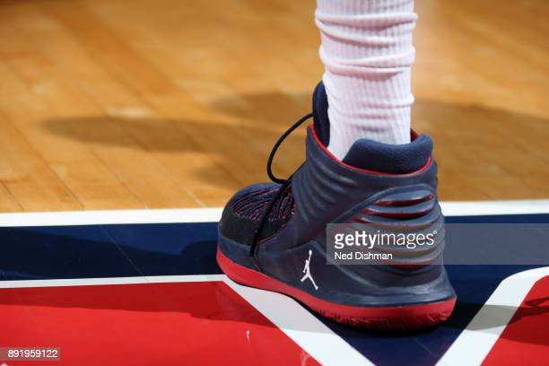 Sneakers of Otto Porter Jr #22 of the Washington Wizards during the game against the Memphis Grizzlies on December 13 2017 at Capital One Arena in...