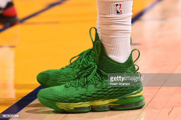 Sneakers of PJ Tucker of the Houston Rockets during game against the Golden State Warriors during Game Six of the Western Conference Finals during...