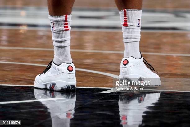 Sneakers of PJ Tucker of the Houston Rockets during the game against the Brooklyn Nets on February 6 2018 at Barclays Center in Brooklyn New York...