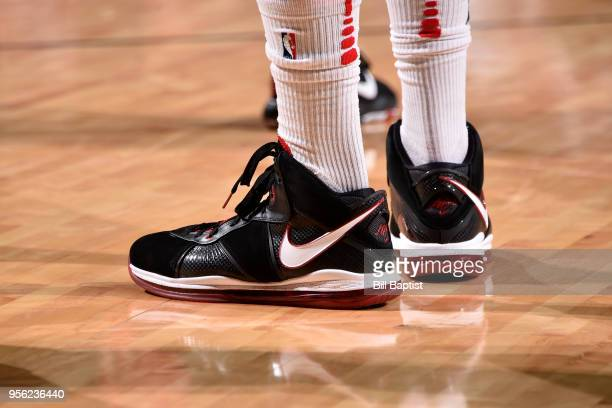 Sneakers of PJ Tucker of the Houston Rockets during the game against the Utah Jazz in Game Five of the Western Conference Semifinals of the 2018 NBA...