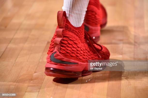 Sneakers of PJ Tucker of the Houston Rockets during the game against the Golden State Warriors in Game Two of the Western Conference Finals of the...