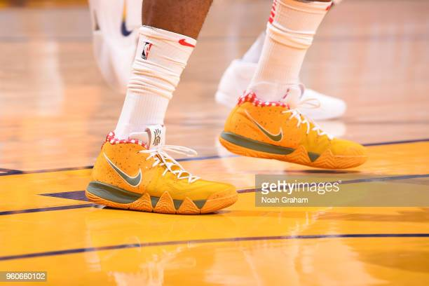 Sneakers of PJ Tucker of the Houston Rockets during the game against the Golden State Warriors in Game Three of the Western Conference Finals of the...