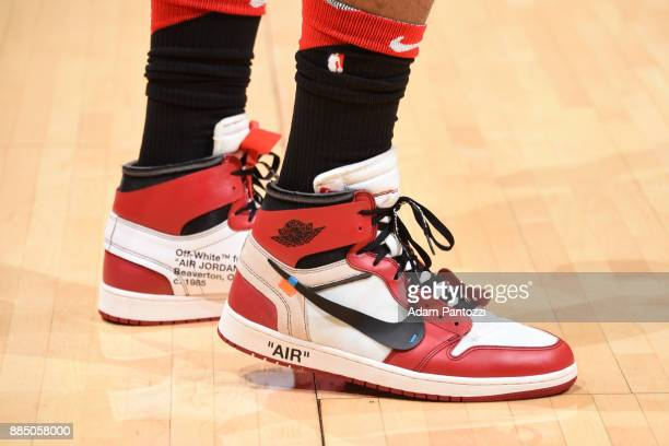 Sneakers of PJ Tucker of the Houston Rockets of the Houston Rockets during the game against the Los Angeles Lakers on December 3 2017 at STAPLES...