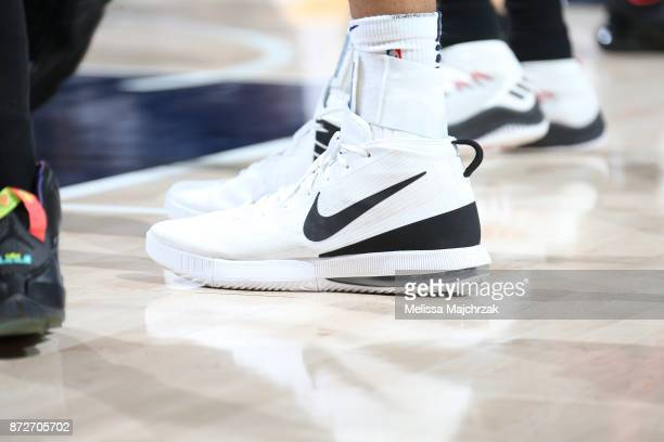 Sneakers of Rudy Gobert of the Utah Jazz on November 10 2017 at Vivint Smart Home Arena in Salt Lake City Utah NOTE TO USER User expressly...