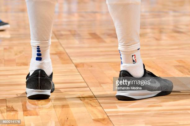 Sneakers of Shelvin Mack of the Orlando Magic duing the game against the LA Clippers on December 13 2017 at Amway Center in Orlando Florida NOTE TO...