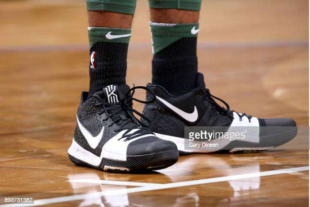 Sneakers of Sterling Brown of the Milwaukee Bucks during the game against the Chicago Bulls on December 15 2017 at the BMO Harris Bradley Center in...