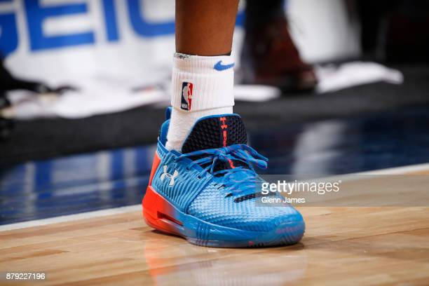 Sneakers of Terrance Ferguson of the Oklahoma City Thunder during game against the Dallas Mavericks on November 25 2017 at the American Airlines...