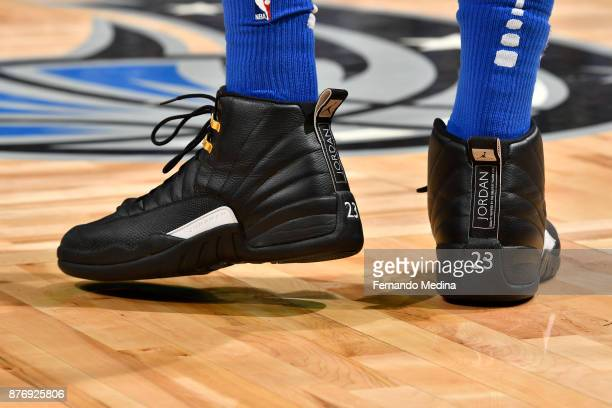 Sneakers of Terrence Ross of the Orlando Magic during game against the Indiana Pacers on November 20 2017 at Amway Center in Orlando Florida NOTE TO...